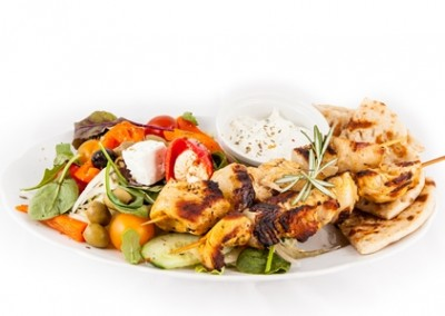 Chicken Souvlaki Meal