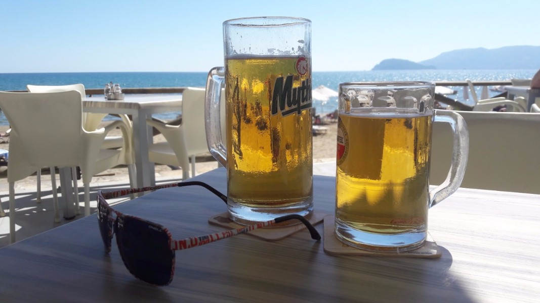 Explore Zante beaches - view from Kalamaki Beach bar