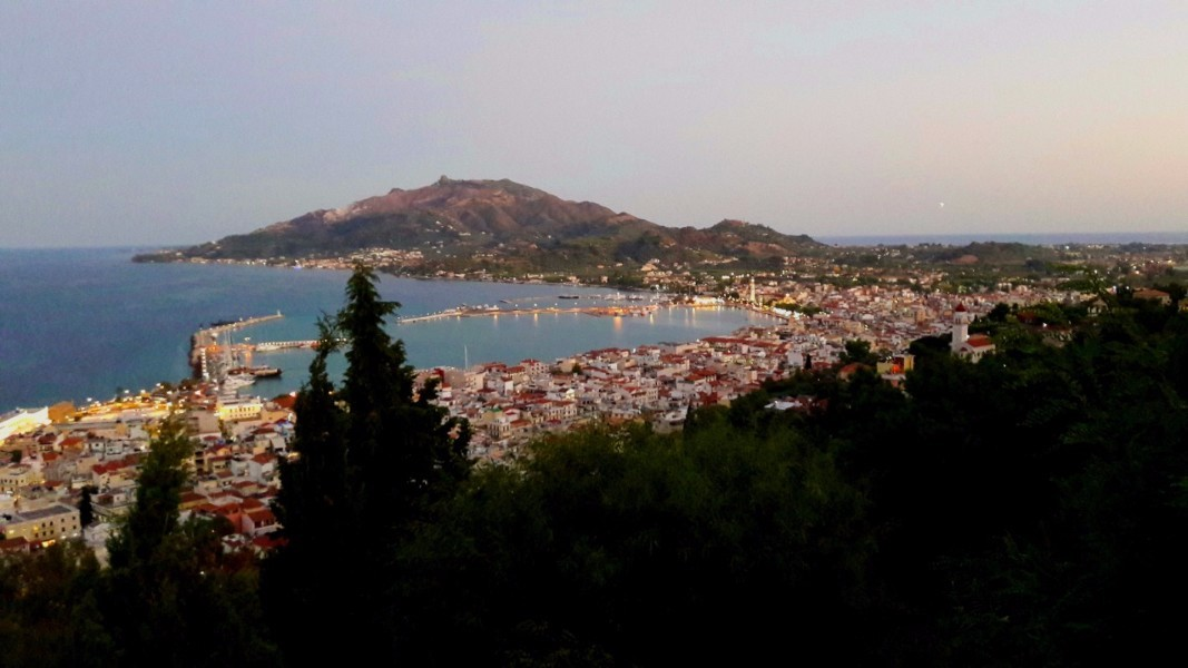 Explore the local area - views of Zante town from Bochali
