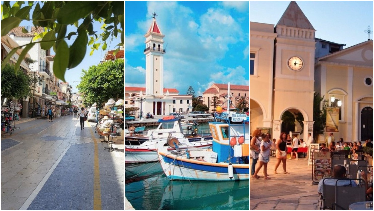 Explore the local area - Zante shopping | Zante harbour | St.Mark's Square