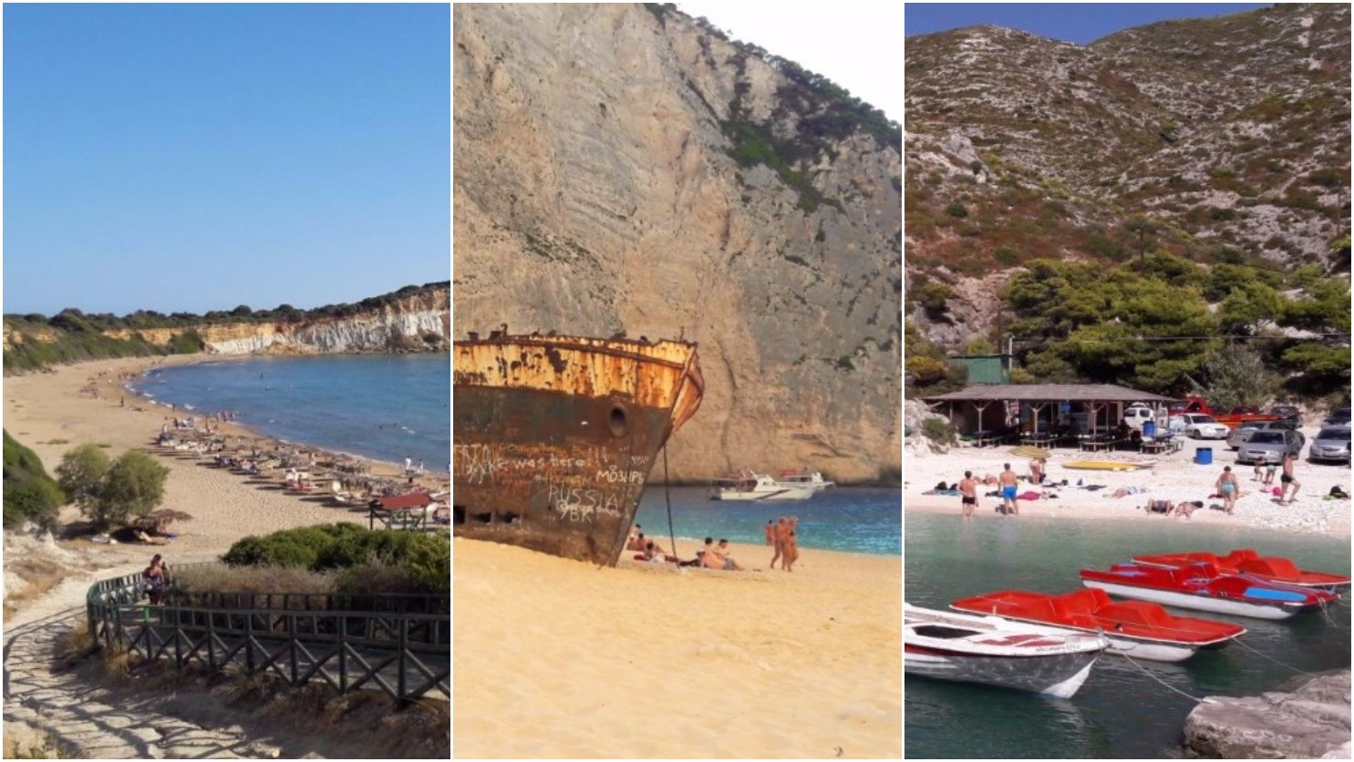 Explore Zante beaches - Gerakas Beach | Navagio Beach | Porto Vromi Beach